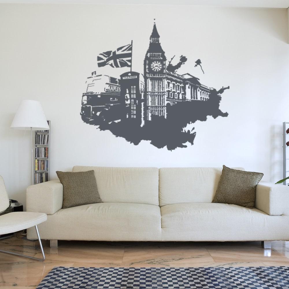 Style and Apply London Streetart World Vinyl Wall Art