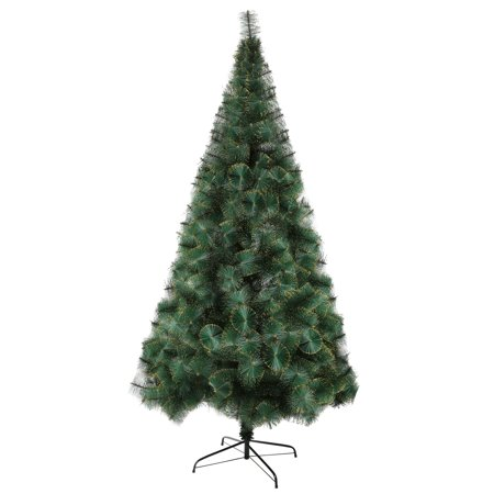 karmas product 8 ft modern christmas tree 460 tips full pet branches with golden glitter metal leg and xmas tree decorations included walmartcom