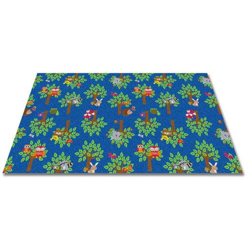 Kid Carpet Woodland Wonders Animal Blue/Green Area Rug