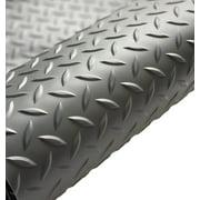 G-Floor Garage Flooring Cover / Protector – 75 Mil Polyvinyl Diamond Tread 10' x 24' in Slate Grey