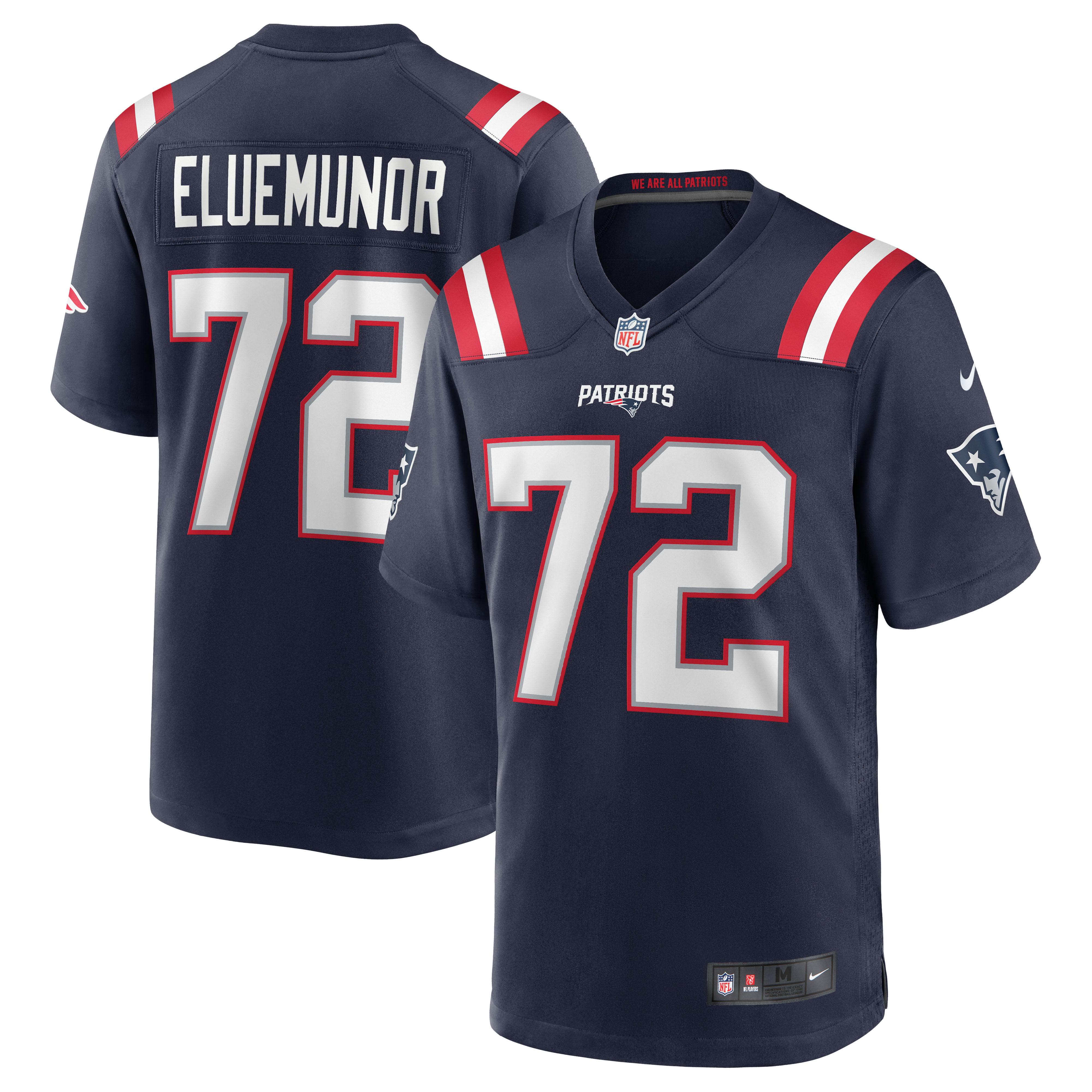 Jermaine Eluemunor New England Patriots Nike Team Game Jersey - Navy - Walmart.com