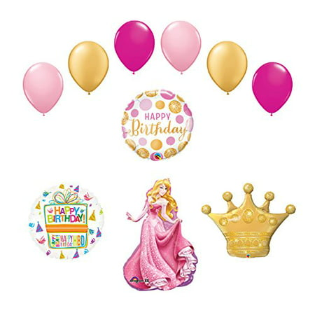 Sleeping Beauty Crown Princess Balloon Birthday Party Supplies and Decorations - Princess Crown Balloon