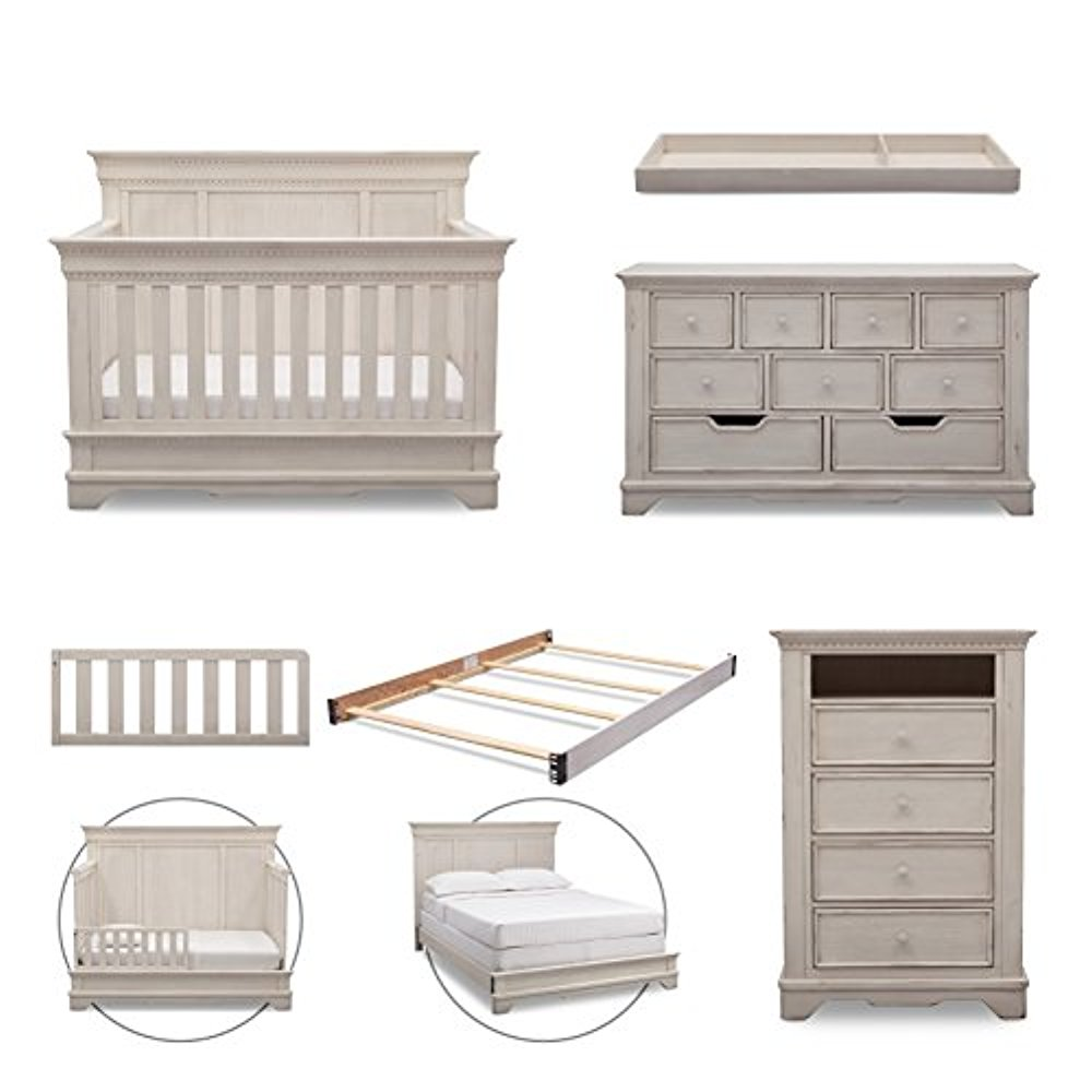 Simmons Kids Tivoli 6-Piece Nursery Furniture Set (Conver...