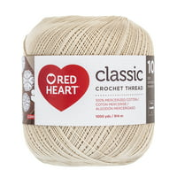 Red Heart Classic Cotton Size 10 Natural Yarn, 1 Each