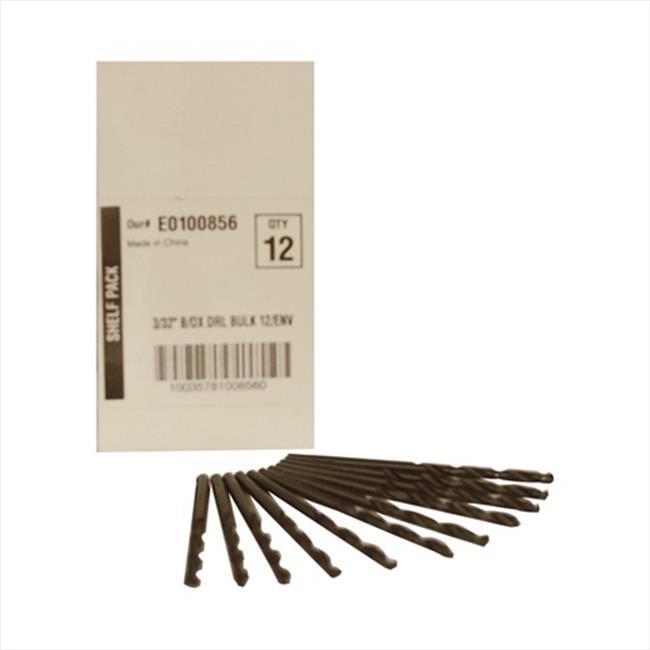 Disston E0100856 Blu-Mol 0. 09 inch Diameter Black Oxide Jobber Length Drill Bit, 12 Pack