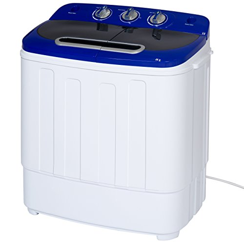 Best Choice Products Portable Compact Mini Twin Tub Washing Machine and Spin...