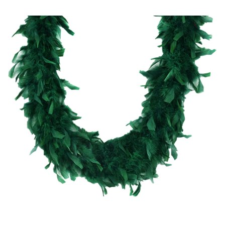 Emerald Green 45 Gm 6 Ft Mardi Gras Costume Chandelle Feather Boa - Mardi Gras Feather Boas