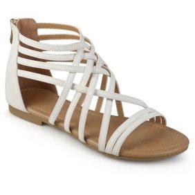 ca16e30902cc ANNA ID79 Women s Ankle Chain Back Zipper Ballet Flats - Walmart.com