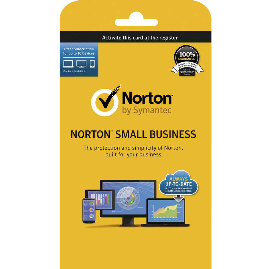 Symantec 21330174 Norton Small Business, 12 Months, 10 Devices (Email Delivery)