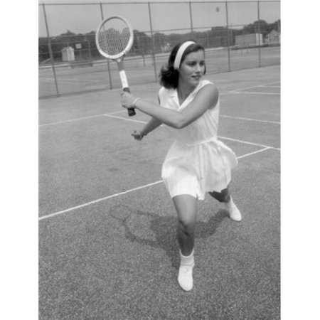 Posterazzi SAL255421956 Young Attractive Woman Playing Tennis at Tennis Court Poster Print - 18 x 24 in. - image 1 of 1