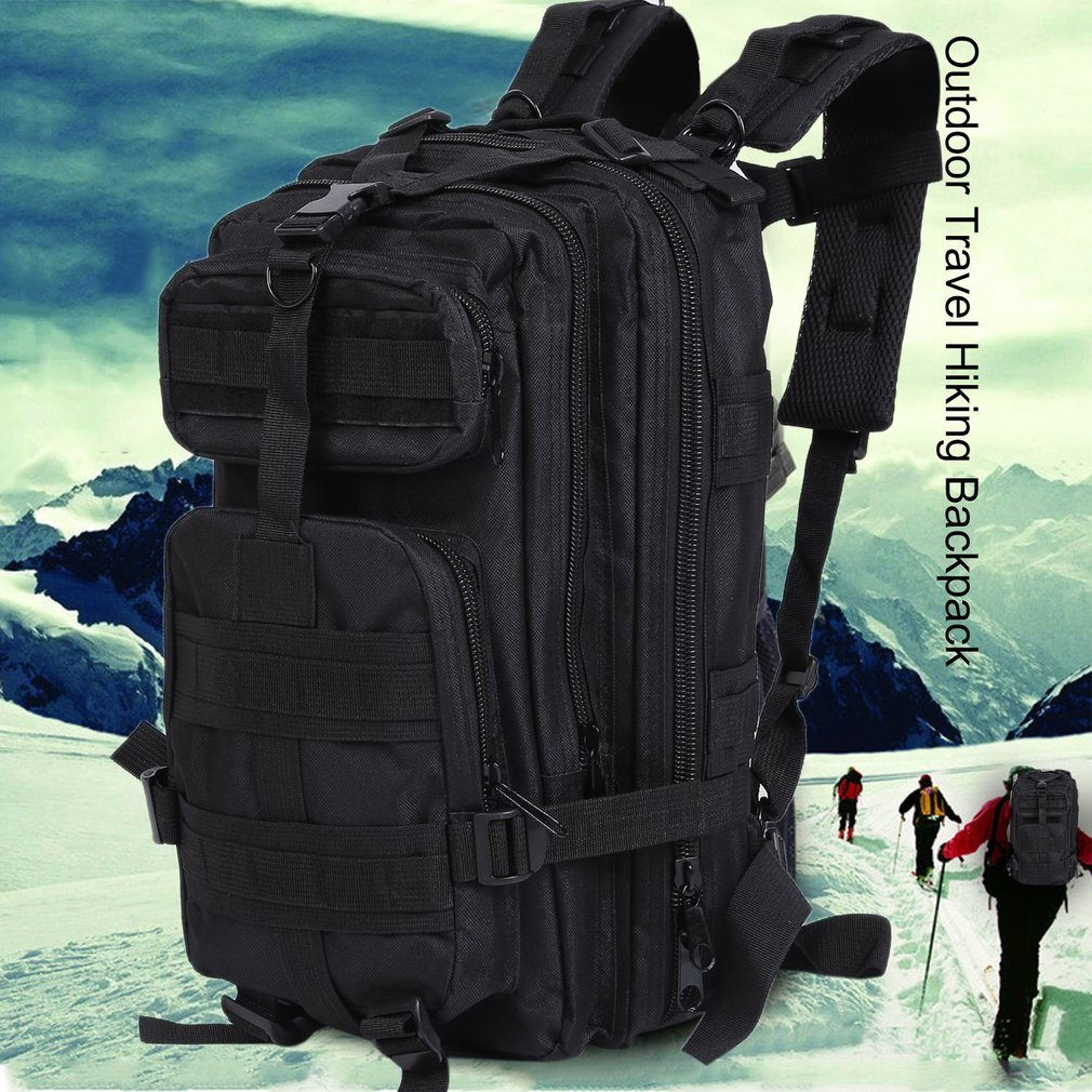 Men Canvas Backpack Camping Travel Hiking Bag Sports Rucksack Schoolbag by