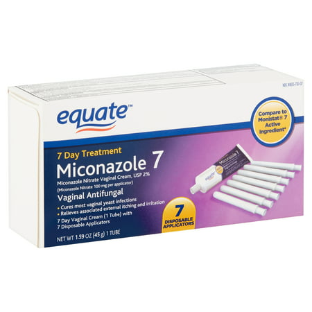 Equate Miconazole 7 Vaginal Cream with Disposable Applicators, 1.59 oz
