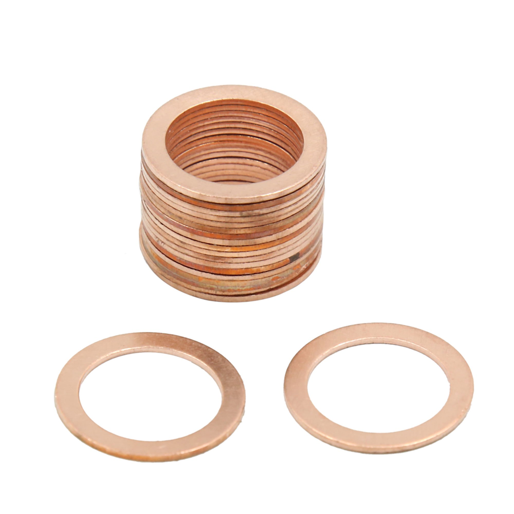 18mm Inner Dia Copper Crush Washers Flat Sealing Gaskets