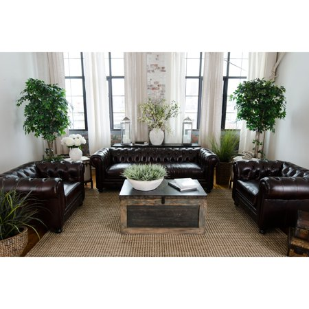 Elements Fine Home Sectional Sofa Saddle