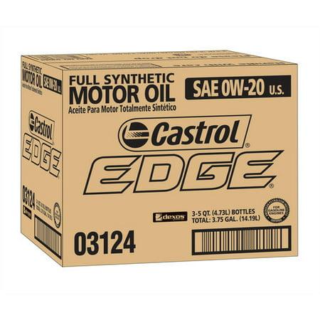 Castrol Edge 0W20 Motor Oil  5 Qt  3 Pack