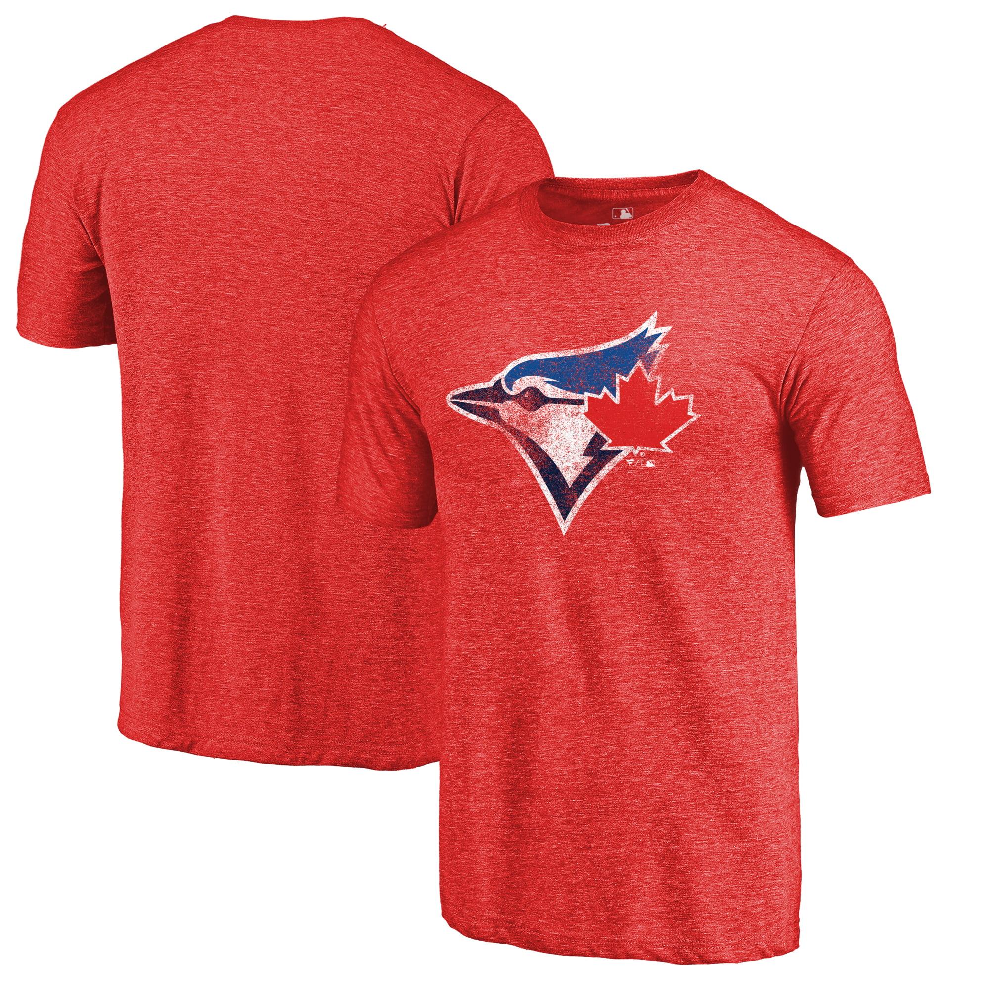 Toronto Blue Jays Fanatics Branded Logo Tri-Blend T-Shirt - Red