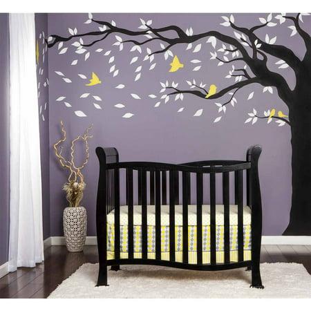 Dream On Me Piper 4 In 1 Convertible Mini Crib Black