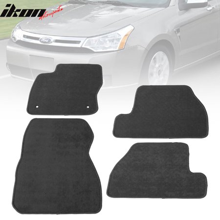 Fits 11-15 Ford Focus Floor Mats Carpet Front & Rear Gray 4PC - (Gray Carpet Floor Mats)