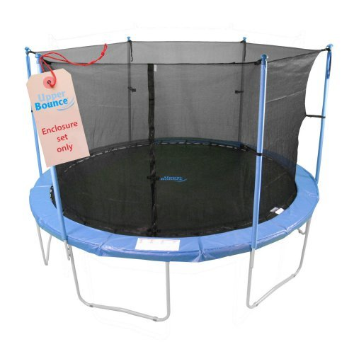 Upper Bounce 6 Pole Trampoline Enclosure for Trampoline Frames with 6 W-Shaped Legs