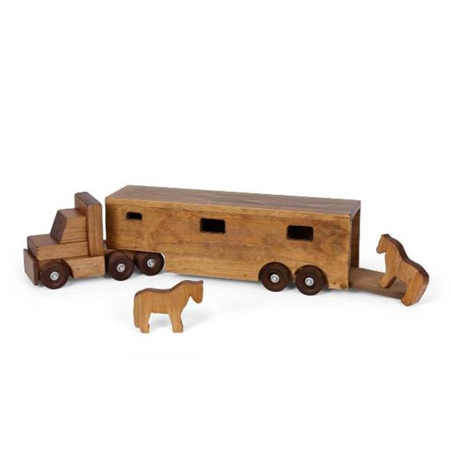 Lapps Toys & Furniture 195 HTH Wooden Horse Trailer Truck...