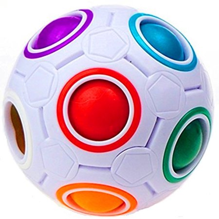 Light Cube Ball (Plastic Cube Rainbow Magic Ball Puzzle Fun Fidget Children's Educational Toy Stress Reliever(1 Piece) )