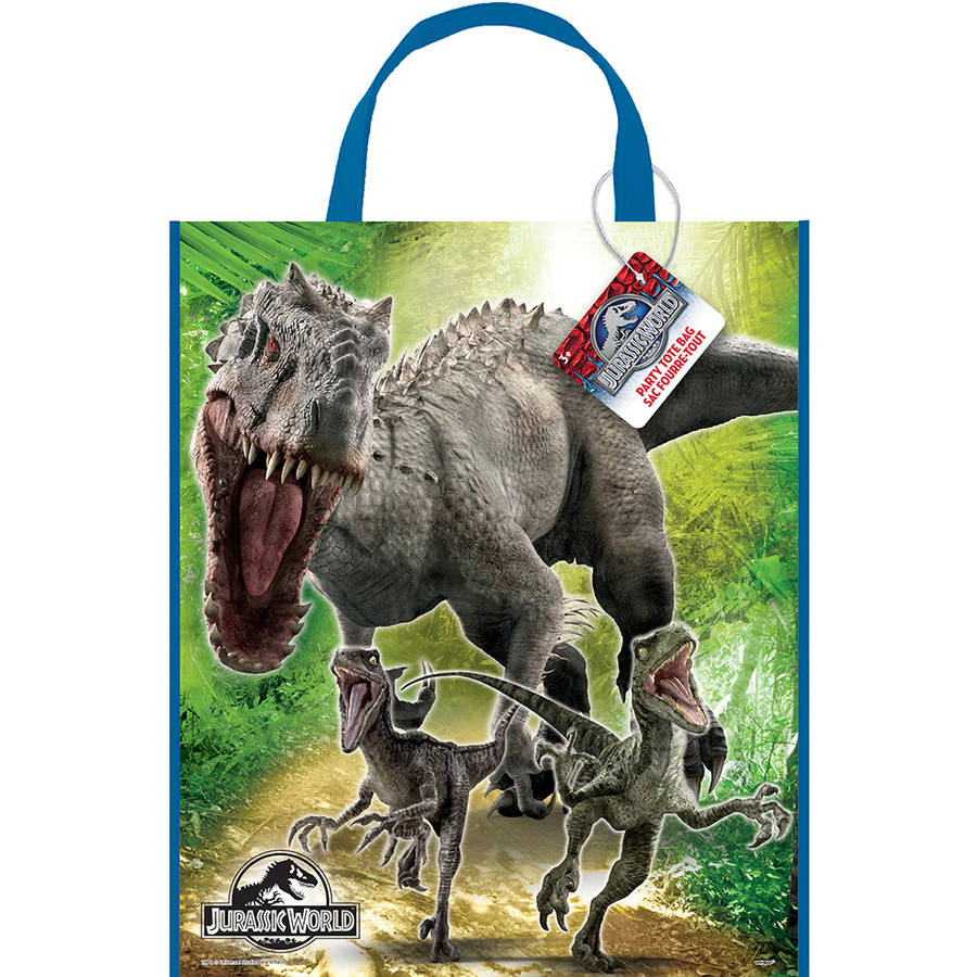 Large Plastic Jurassic World Goodie Bags, 13 x 11 in, 12ct