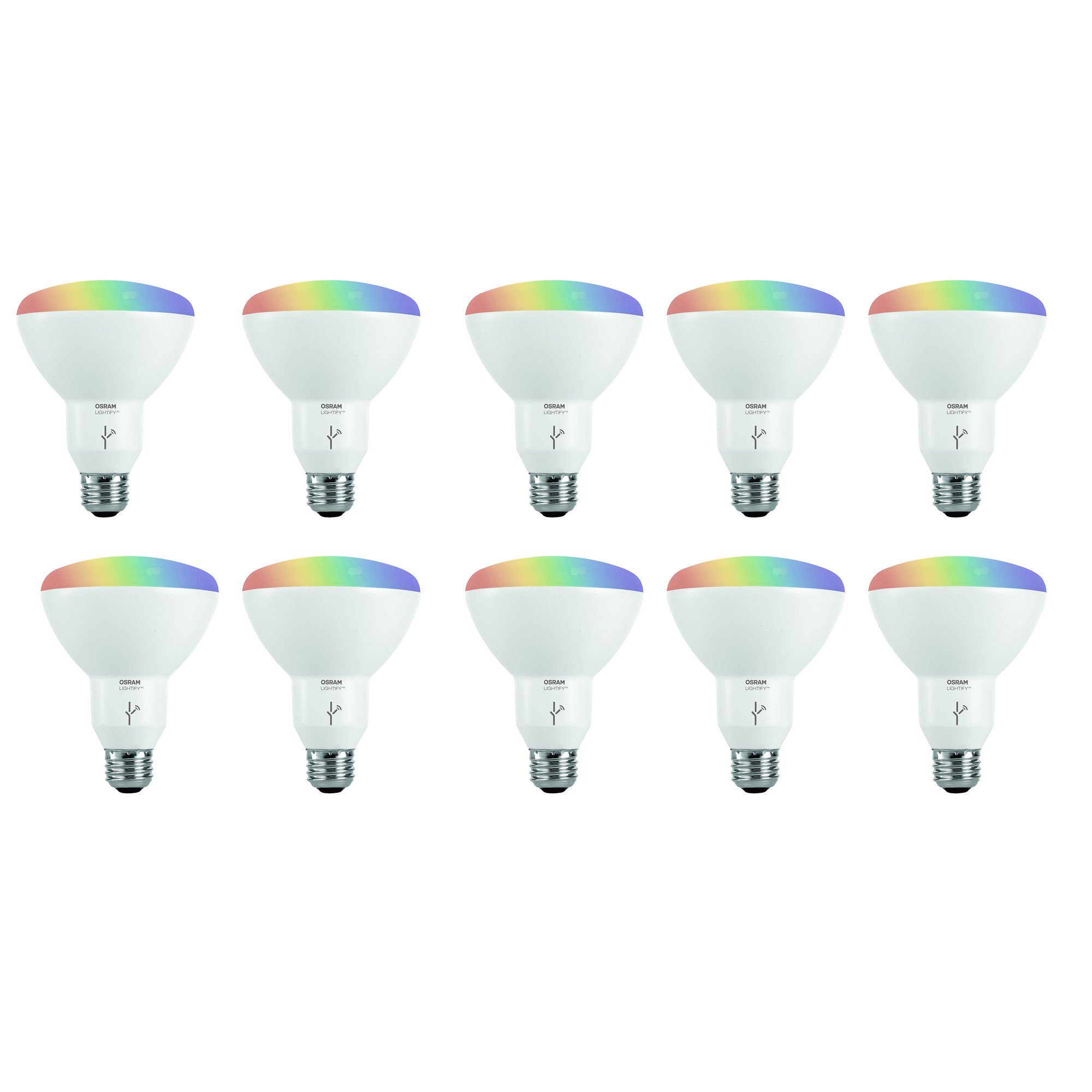 Sylvania Osram Lightify Smart Home 65W BR30 White/Color LED Light Bulb (10 Pack)