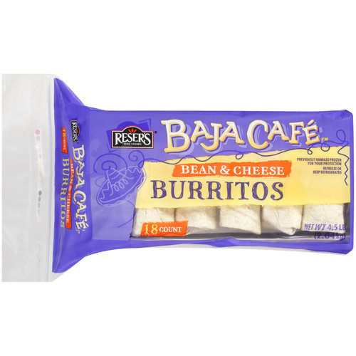 Baja Cafe Bean & Cheese Burritos, 18ct