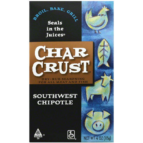 Char Crust Southwest Chipotle Dry-Rub Seasoning, 4 oz, (Pack of 6) by