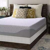 Crown Comfort 11 inch Gel Memory Foam Mattress And Bi fold Box Spring Set