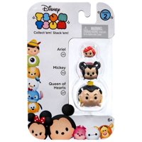 Disney Tsum Tsum Series 2 Ariel, Mickey & Queen of Hearts Mini Figures, 3 Pack