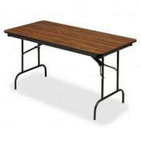 18 x 72 in. Wood Laminate Folding Table, Oak