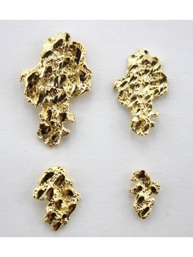 e155d0792 Product Image Authentic 10k Solid Yellow Gold Nugget Stud Earrings Men  Women Unisex