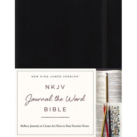nkjv journal the word bible hardcover black red letter edition reflect