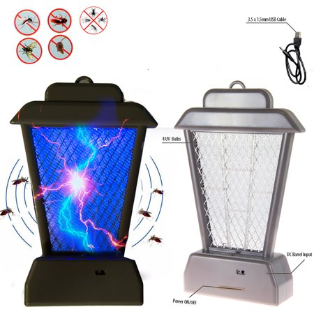 New Insect Mosquito Bug Zapper UV Light Fly Pest Bug Trap Lamp Killer Grey