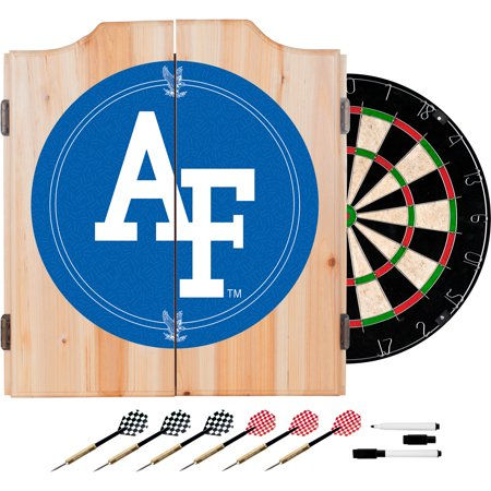 Air Force Falcons Wood Dart Cabinet (Air Force Wood)
