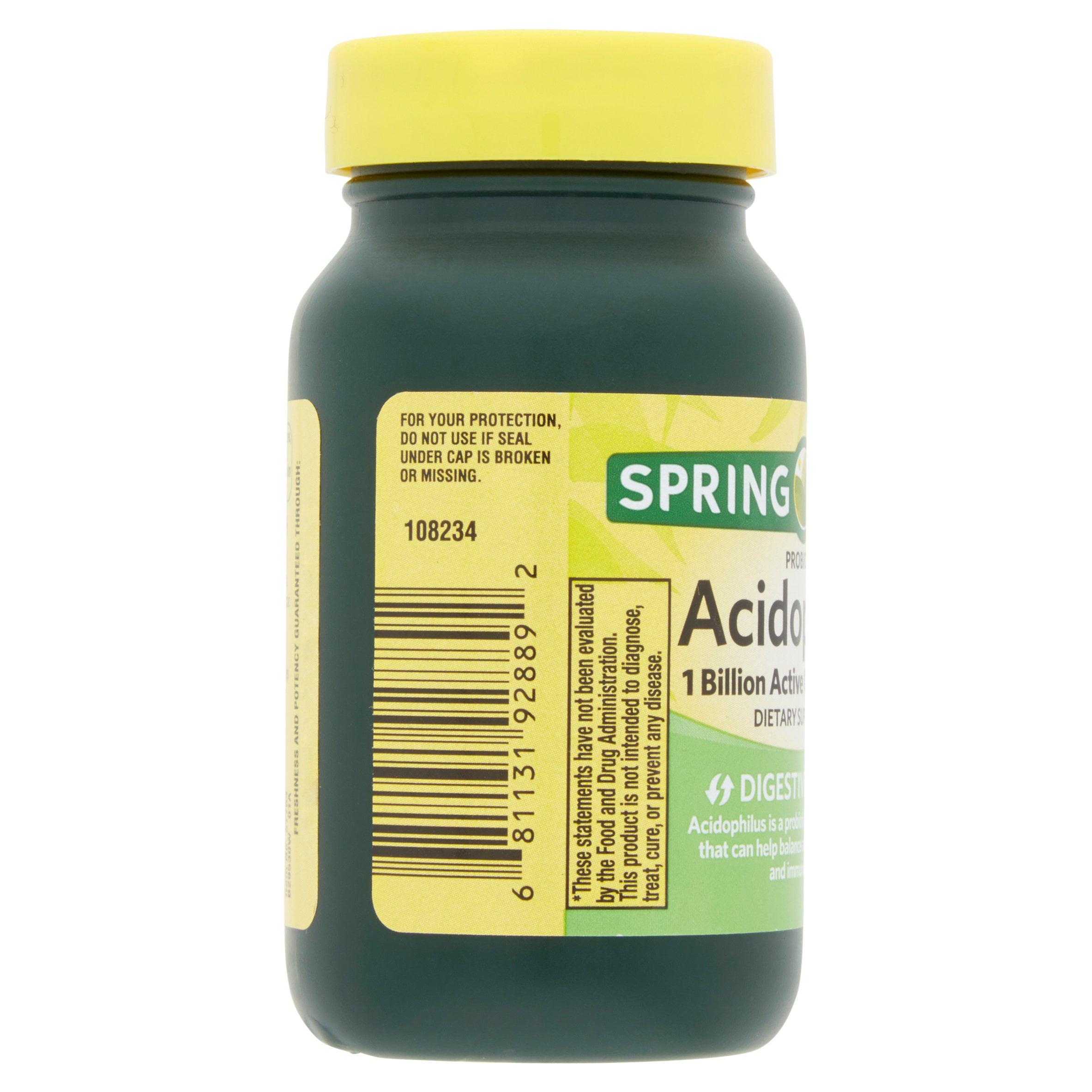 Spring Valley Acidophilus Probiotic Caplets, 5 mg, 30 Ct