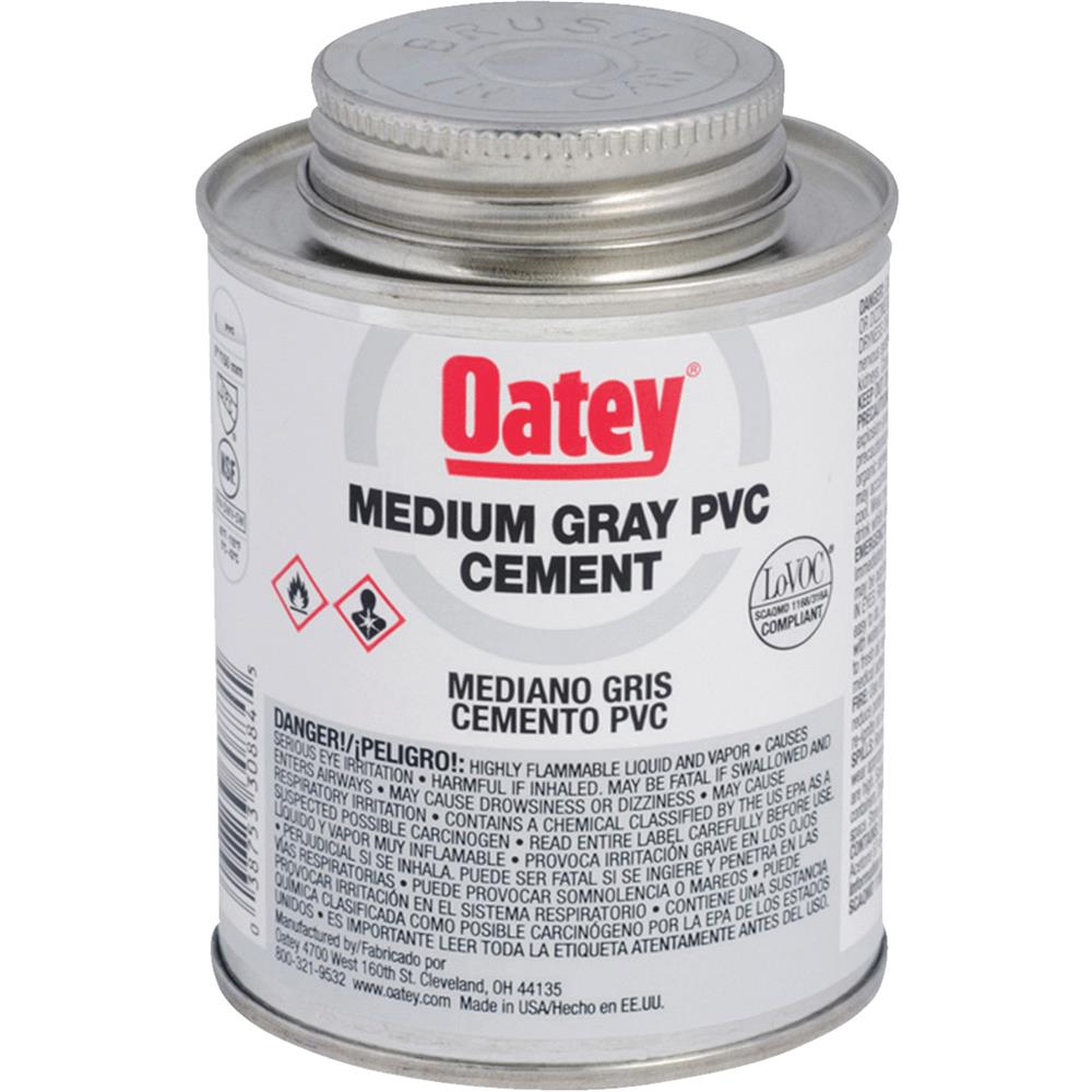 Oatey Qt Gray Pvc Cement 30886