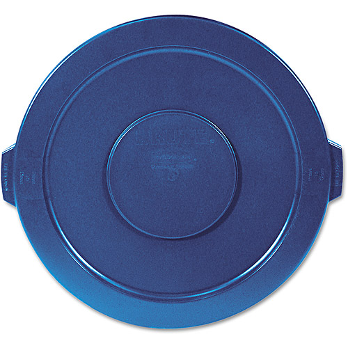 Rubbermaid Commercial Round Blue Lid For Brute Waste Containers, 32 gal