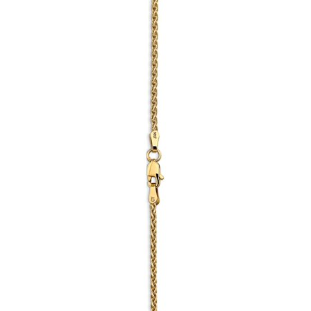 14k Yellow Gold 1.9mm Parisian Wheat Chain - image 1 of 5