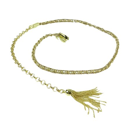 Style & Co. Women's Suede Woven Linked Chain Tassel