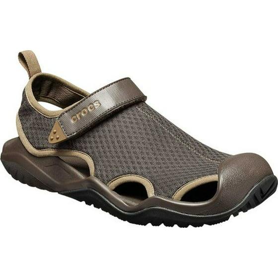 15b063866006 crocs - Crocs Men s Swiftwater Mesh Deck Closed Toe Sandal - Walmart.com