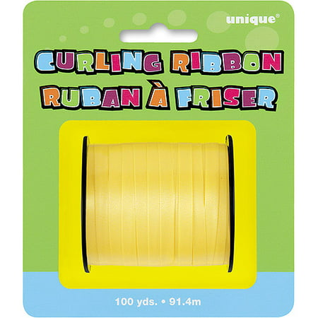 (2 pack) Curling Ribbon, Yellow, 100 yd - Yellow Ribbons