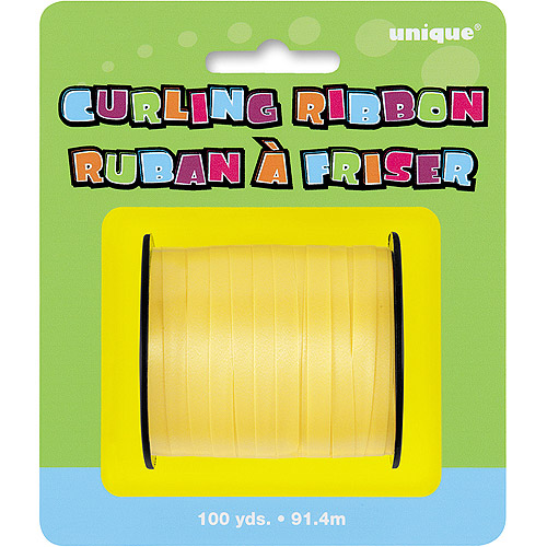 Curling Ribbon, Yellow, 100 yd, 1ct