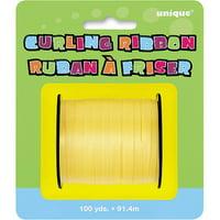 Curling Ribbon, Yellow, 100 yd, 1ct