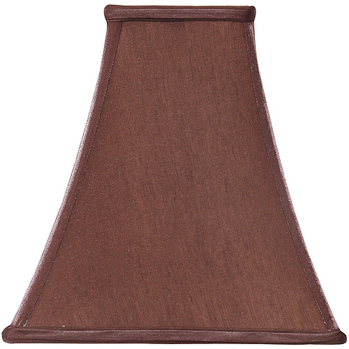 Better Homes and Gardens Red Brown Sateen Square Bell Accent Shade