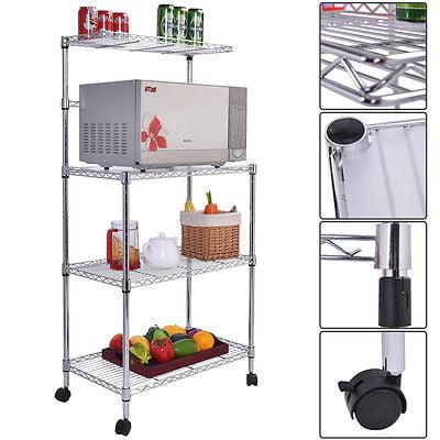 3-Tier Kitchen Baker's Rack Microwave Oven Stand Storage Cart Workstation Shelf GSS172349154