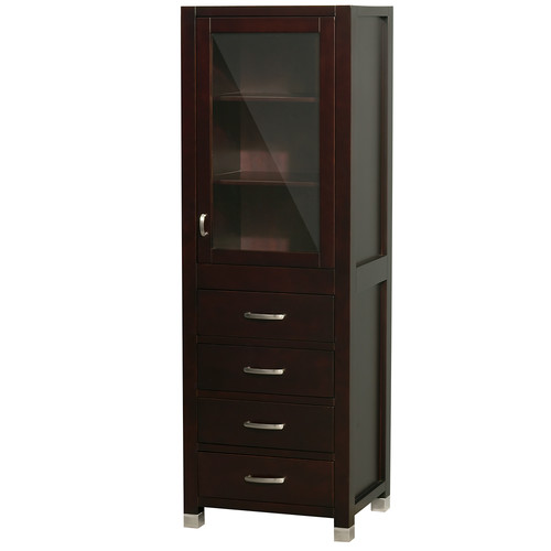 bathroom linen tower cabinet wyndham collection shaina bathroom linen tower in espresso 16176