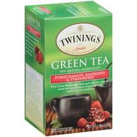 (4 Boxes) Twinings of London® Pomegranate, Raspberry & Strawberry Green 20 ct Tea Bags 1.06 oz. Box