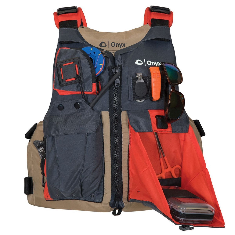 Onyx Kayak Fishing Paddle Vest Adult Universal - Tan